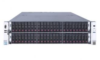 H3C R6900G3服务器(两颗金牌5118 CPU,32GB DDR4内存,RAID卡(2G缓存),2*2.4T硬盘,4*GE,2*1200W电源,无DVD,滑轨)