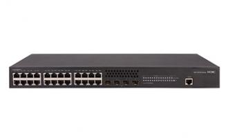 H3C S5130S-28P-EI交换机(L2以太网交换机,支持24个10/100/1000BASE-T电口,支持4个1000BASE-X SFP端口)