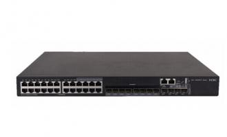 H3C S5500V2-28C-EI交换机(24个10/100/1000BASE-T端口(含8个SFP Combo),4个1G/10GBASE-X SFP Plus端口,1个Slot)
