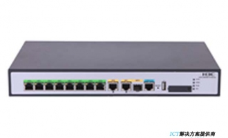 H3C MSR810-10-POE路由器 企业级10端口千兆路由器(PoE+,60W)