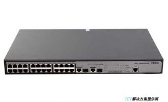 H3C S2626-HPWR交换机 26端口以太网交换机交换机(24FE+2SFP Combo+POE)