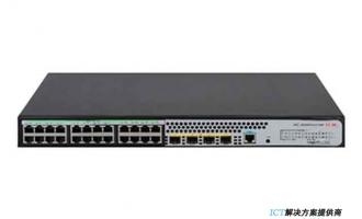 H3C S5024PV5-EI-PWR交换机 L2以太网交换机主机,支持24个10/100/1000BASE-T PoE+电口,支持4个1000BASE-X SFP端口,支持AC