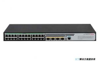 H3C S5024PV5-EI交换机 L2以太网交换机主机,支持24个10/100/1000BASE-T电口,支持4个1000BASE-X SFP端口,支持AC