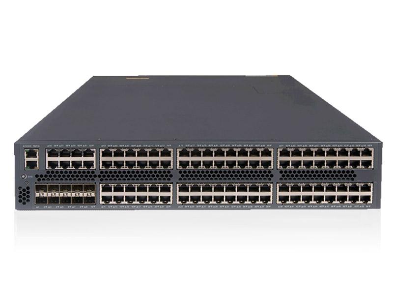 S5830-106S:96 个10/100/1000Base-T以太网端口,10个1G/10G SFP+端口,两个电源插槽,一个风扇插槽